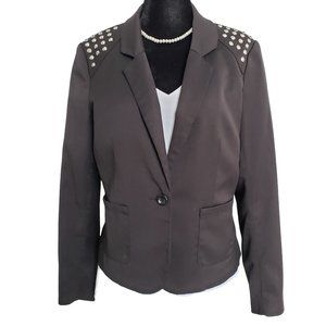 H&M DIVIDED Black Studded Blazer 12